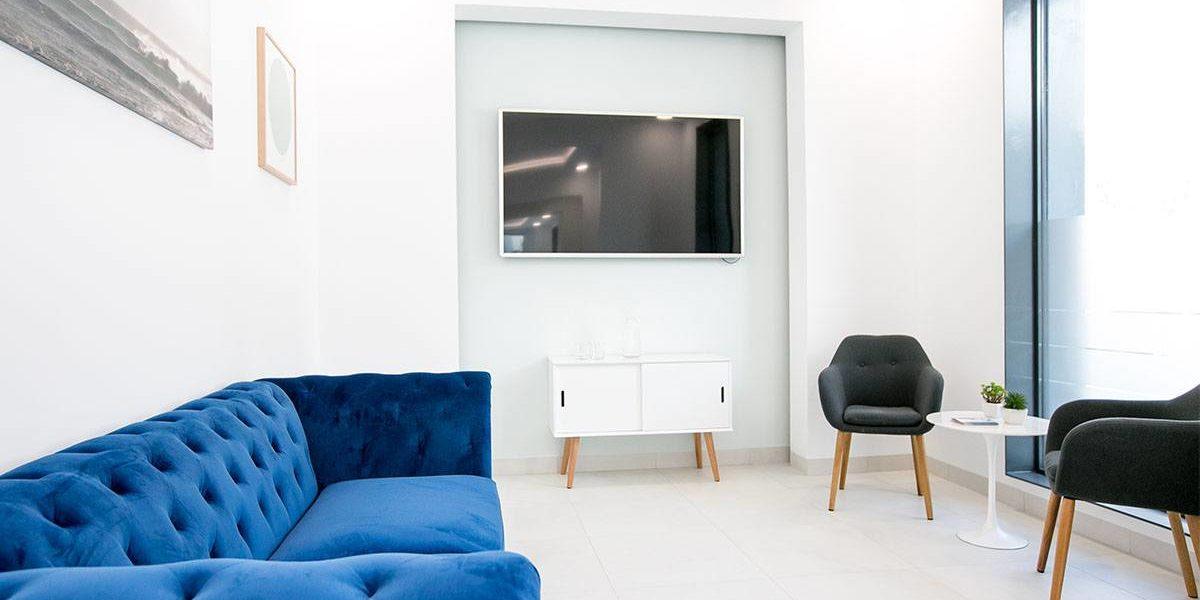 Sala de espera Cenyt Unidad Estética